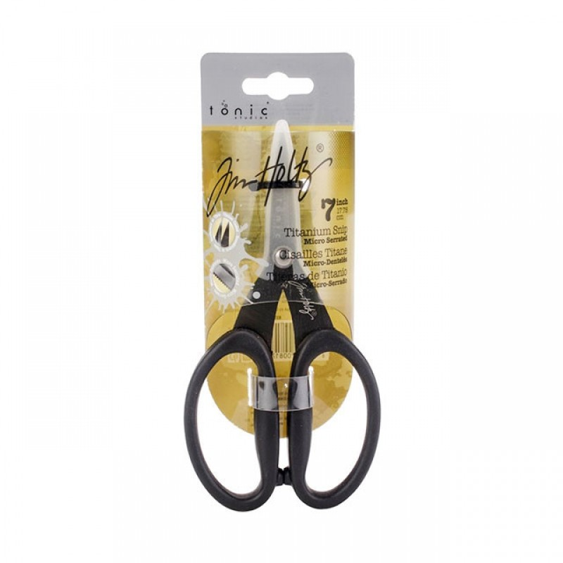 Tim Holtz Non-Stick Titanium Micro Serrated Scissors 7인치